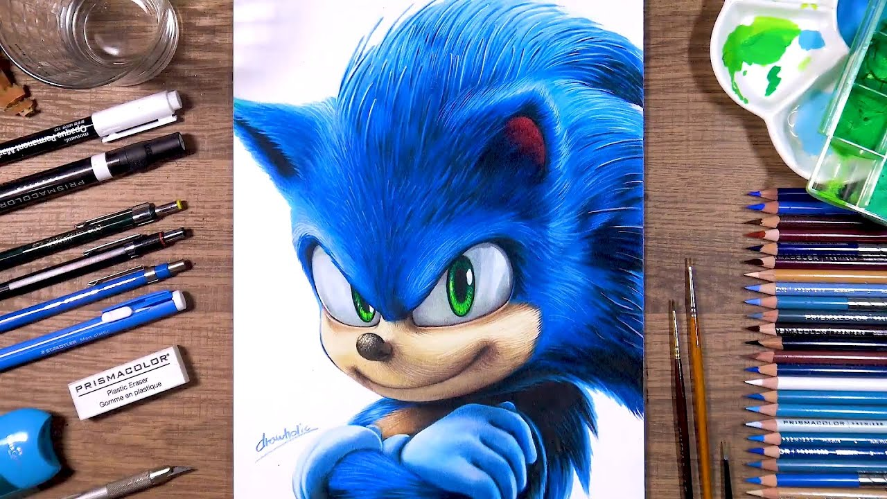 Drawing Sonic The Hedgehog Drawholic Youtube
