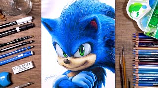 Drawing Sonic the Hedgehog | drawholic
