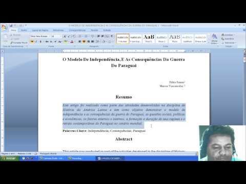Видео Normas abnt artigos academicos