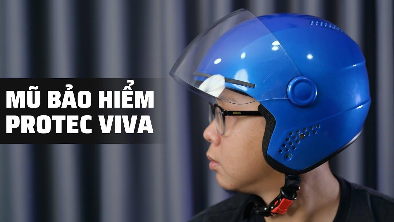 TRÊN TAY và tặng nón bảo hiểm Protec VIVA   Đội nón 3/4 để an toàn hơn