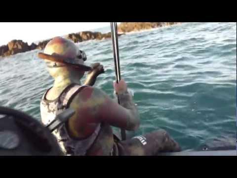 Chasse sous marine 20 nov 2011 en baie de St Brieuc. La der de der de 2011.mp4