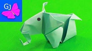 Оригами из бумаги СЛОН