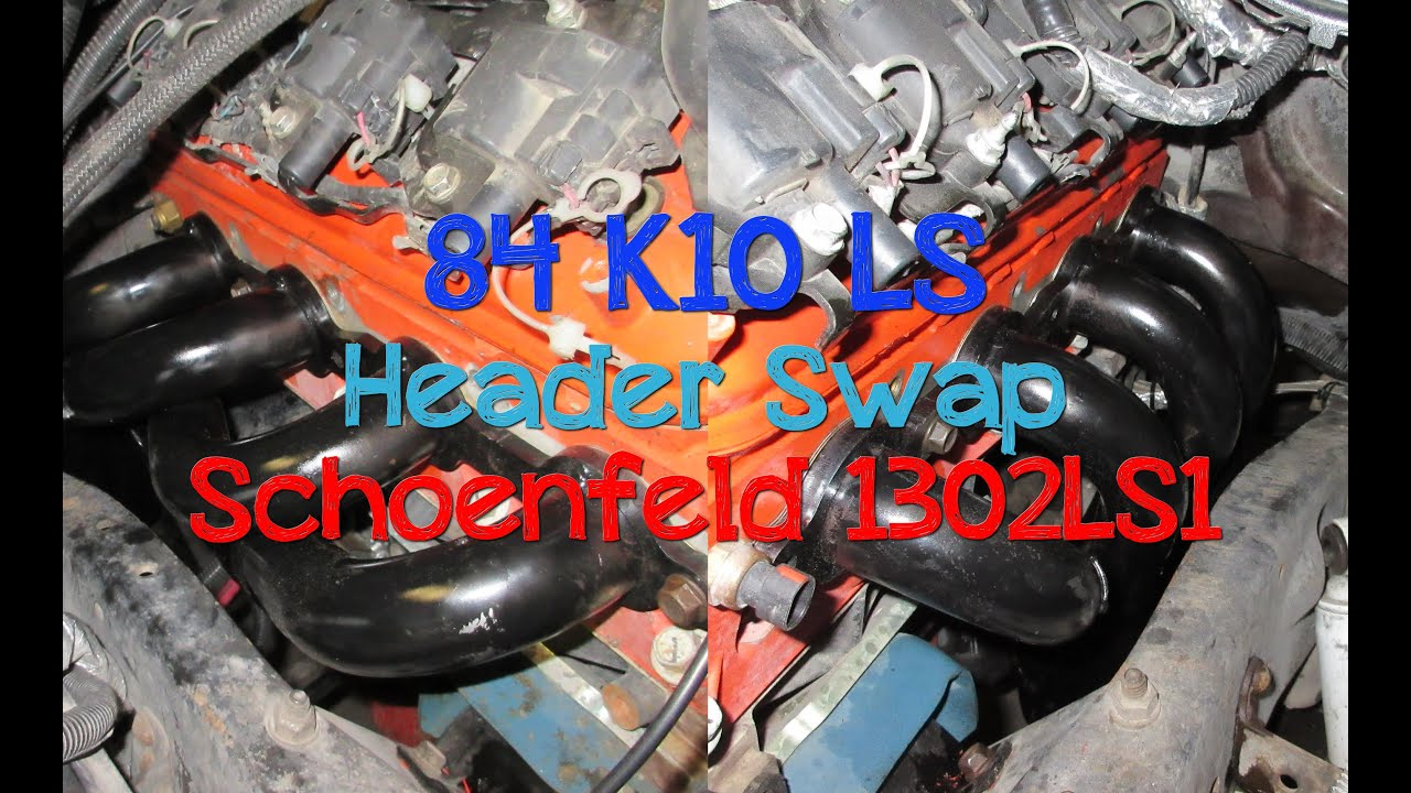 84 K10 Ls Header Install Schoenfeld 1302ls1 Youtube