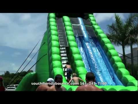 Party Rental Boca Raton Biggest Water Slide In Florida Donald Trump Party