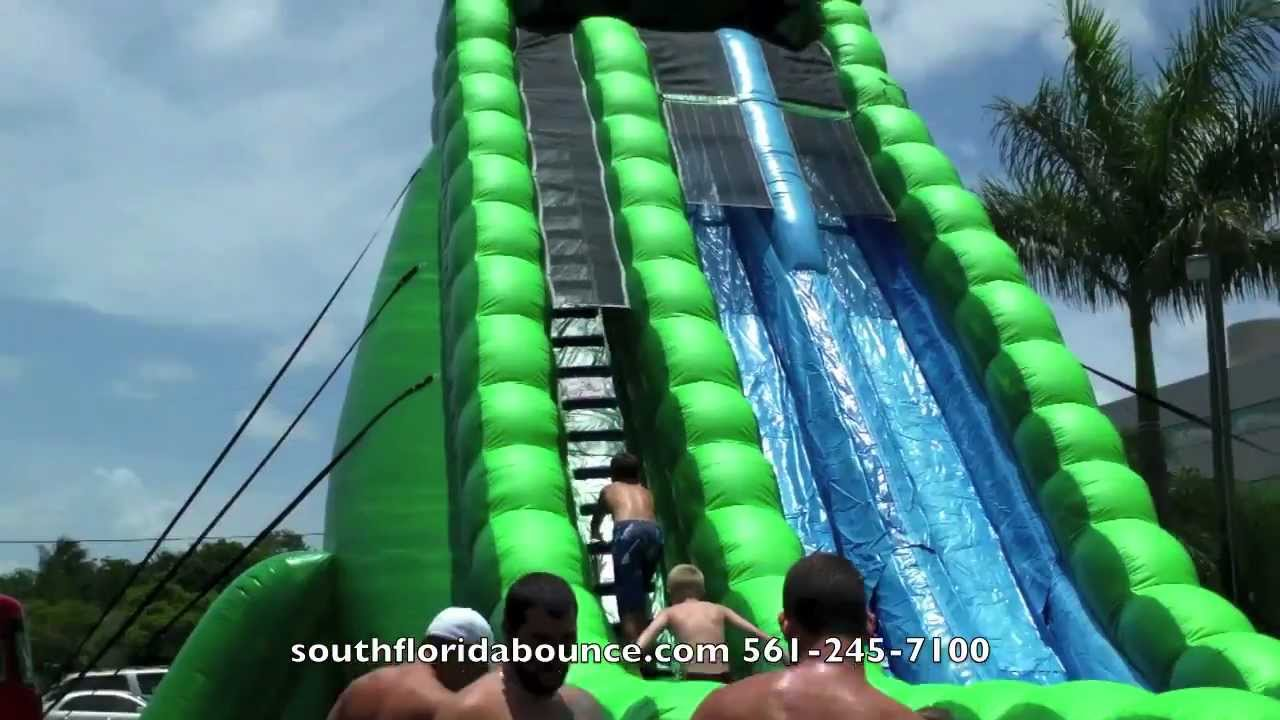 party rental boca raton biggest water slide in florida donald trump party youtube - Water Slide Bounce House