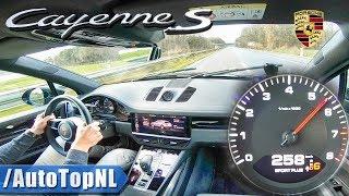 258km/h in PORSCHE CAYENNE S 2018 on AUTOBAHN by AutoTopNL