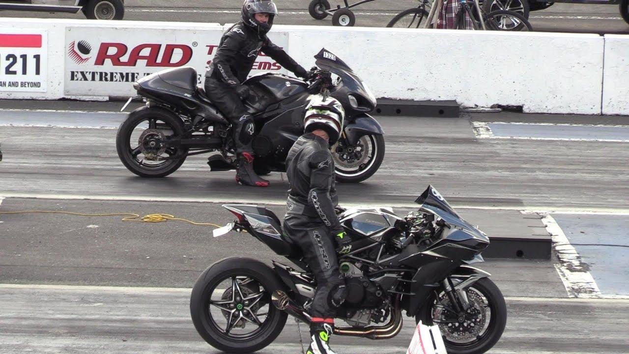 Motorcycles: Watch This Turbo Hayabusa Race A Ninja H2