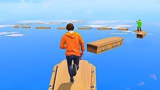 WORLD'S HARDEST FREE RUNNING LEVEL! - GTA 5 Funny Moments