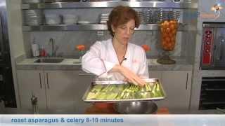 Roasted Asparagus, Celery &amp Scallions