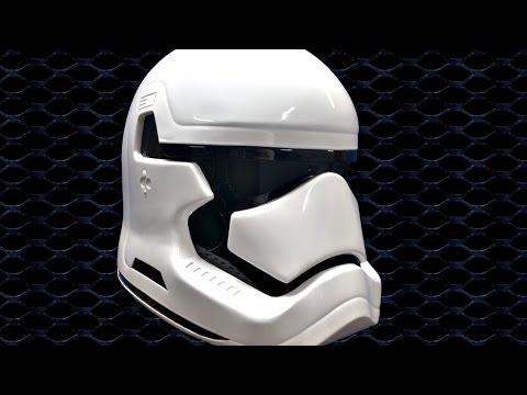 making the Star wars episode 7; the force awakens stormtrooper helmet (metal)