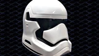 making the Star wars episode 7; the force awakens stormtrooper helmet (metal)