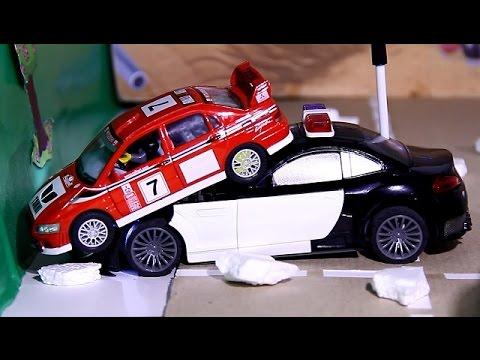 POLICE CAR CHASE   toy police car chases   Police Car For Children   POLICE