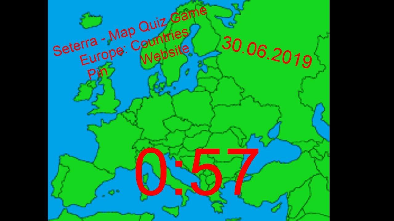 Seterra - Map Quiz Game Speedrun - Europe: Countries - Pin ...