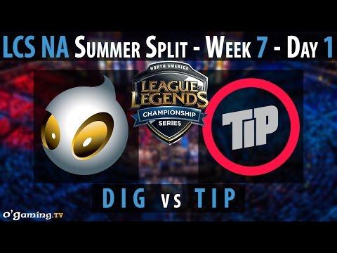 Team Impulse vs Dignitas - LCS NA 2015 - Summer Split - Week 7 - Day 1 - TIP vs DIG [FR]