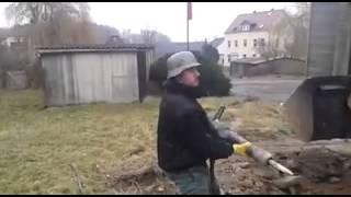 Presslufthammer als maschinengewehr