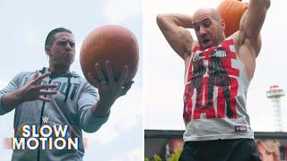 WWE Superstars smash pumpkins in slow motion