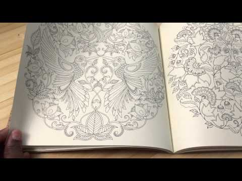 Adult Coloring Book Review Secret Garden Coloring Book By Johanna Basford Youtube