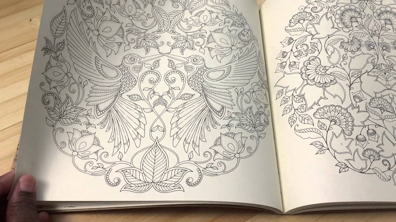 Secret Garden Coloring Book Review : Adult Coloring book review! Secret Garden Coloring book by Johanna Basford YouTube