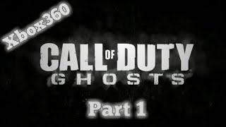 Call Of Duty :Ghosts-xbox360 recorde using phone
