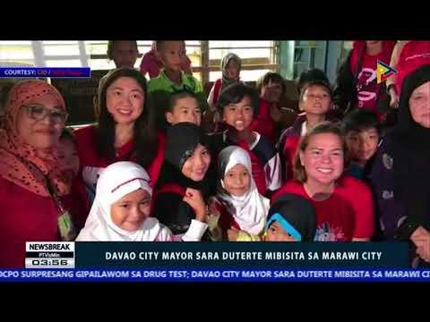 NEWS BREAK: Davao City Mayor Sara Duterte mibisita sa Marawi City