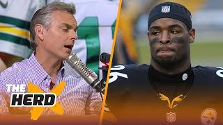 Colin on Bell's teammates commenting on his contract, Packers not landing Mack   NFL   THE HERD