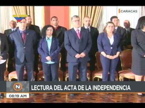 Discursos de Mario Sanoja y Tareck El Aissami en la Asamblea Nacional