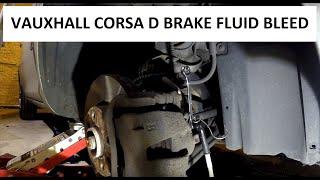 Vacuum bleed Vauxhall Corsa D Front brakes diy