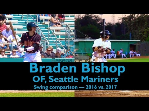 Braden Bishop, Seattle Mariners — Swing Mechanics 2016 vs. 2017