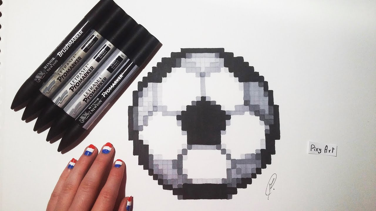 Euro 2016 Soccer Ball Drawing Pixel Art