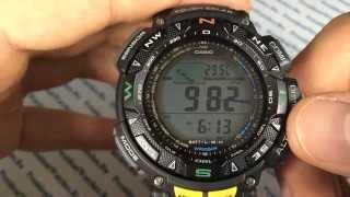 обзор часов Casio ProTrek PRG-240-1E - видеообзор часов для туризма от President Watches