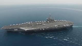 بالفيديو| وحدة هجومية أمريكية تدخل البحر المتوسط