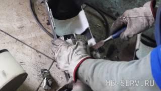удаление сажевого фильтра, замена катализатора на пламегаситель на Мерседесе С класс