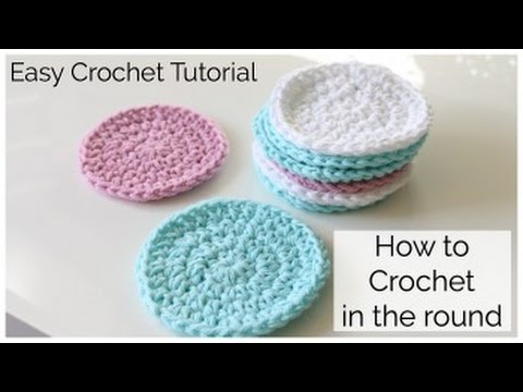 How To Crochet A Round Face Scrubbie Youtube