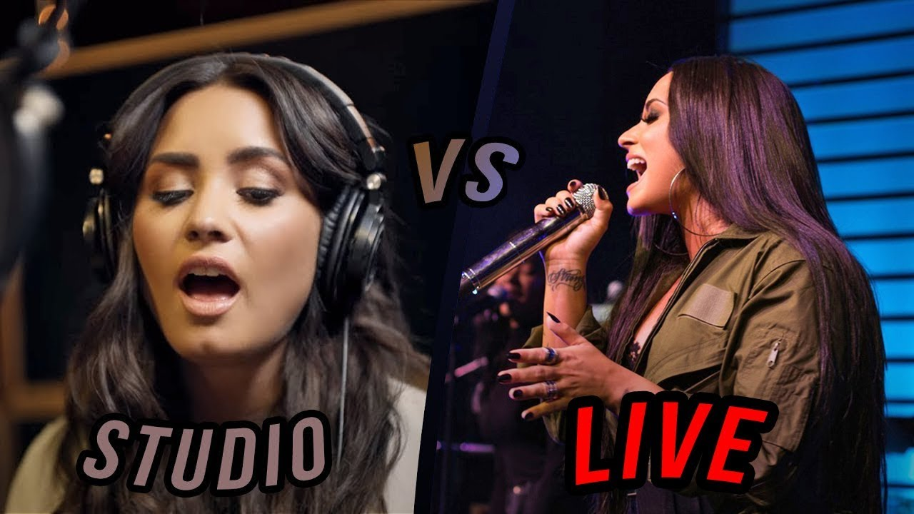 Demi Lovato - Studio vs Live (2018 Update)