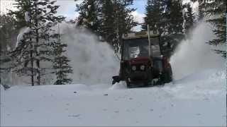 Zetor 7211 ja talven 2011-2012 lumet