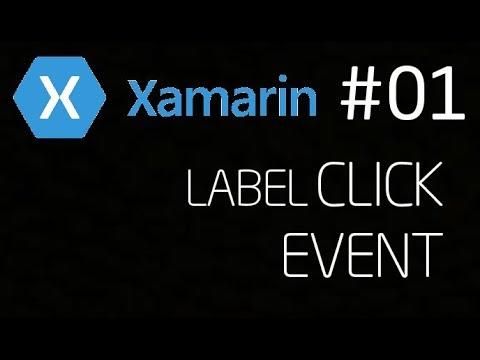 Xamarin Label Click Event (TapGestureRecognizer)