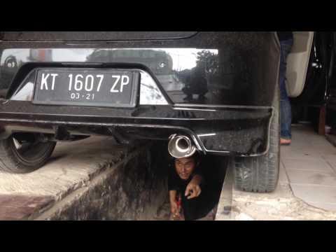 knalpot datsun go HKS racing with custom resonator