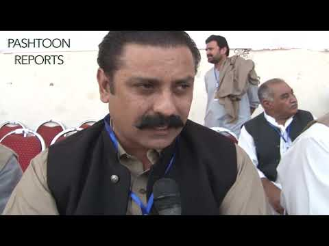 FAZAL KHAN  ADVOCATE Member of PTM Core Committee talking to media