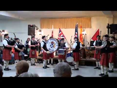 St. Andrew's Pipe Band at the 2013 Flint Ceilidh