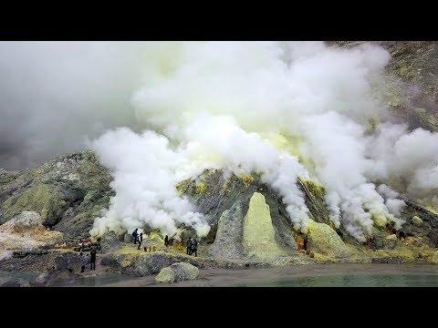 Kawah Ijen Volcano And Sulphur Mine