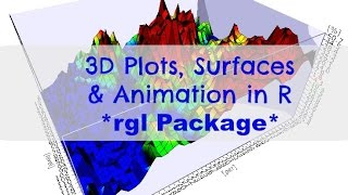 3D R - Creating 3D Plots, Surface Plots and Animations in R using rgl Package