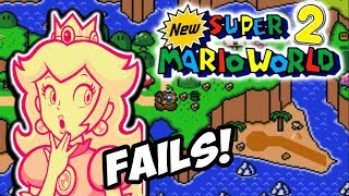 FAILING AT PINK GOLD PEACH'S GAME!! | New Super Mario World 2: Around the World (ROM HACK)