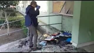 Incendio scuola media marco pacuvio