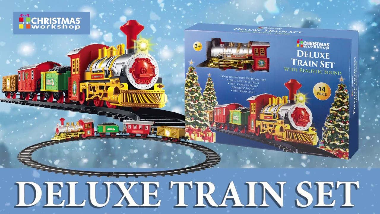 Christmas Train Set.Musical Christmas Train Set