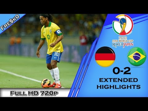 GERMANY vs BRAZIL 0-2 [World Cup 2002 FINALS] All Goals & Highlights - English Commentary - HD