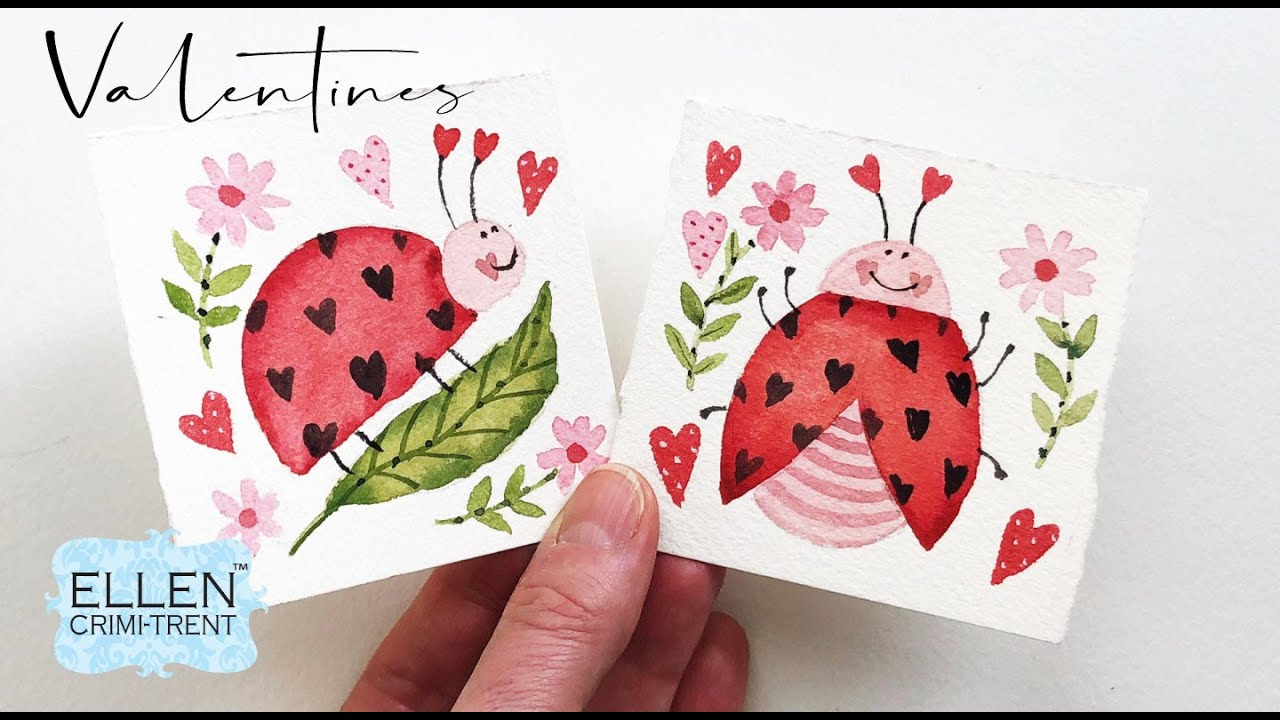 Valentines Day Cards- Mini Monday Madness Ladybugs