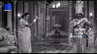 """Mahodhara's Promise to Kalayavana""-Sri Krishna Vijayam Movie    NTR   SVR  Jayalalithaa   Jamuna"