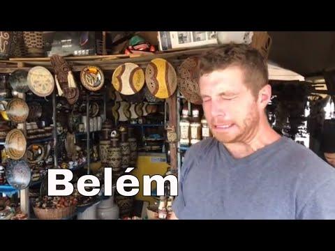 Belém do Pará : Gringos Experimentado Açai  e Outras Comidas Típicas (Mercado Ver-o-Peso)