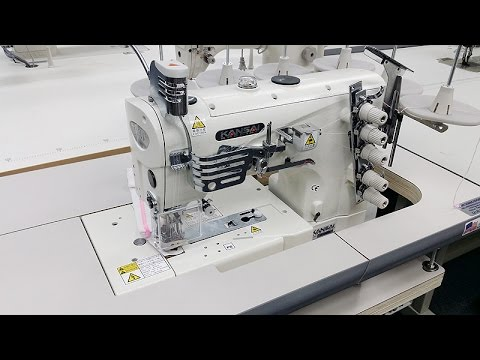 KANSAI SPECIAL NW-8803GMG Coverstitch Sewing Machine Demo Video
