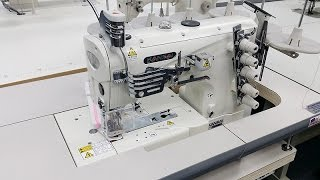 kansai-special-nw-8803gmg-coverstitch-sewing-machine-demo-video